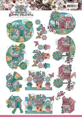 CD11436 3D cutting sheet - Yvonne Creations - Kitschy Lala - Kitschy Garden