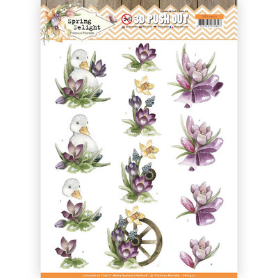 SB10422 3D Pushout - Precious Marieke - Spring Delight - Purple Crocus
