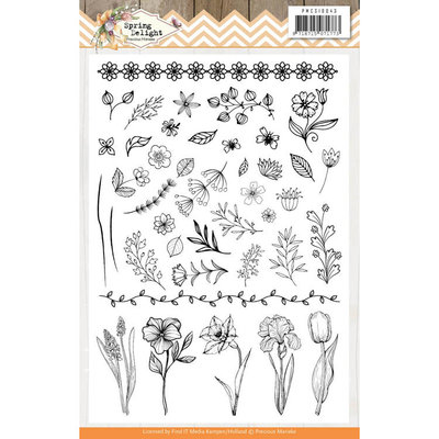 PMCS10043 Clear Stamps - Precious Marieke - Spring Delight