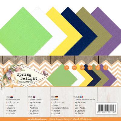 PM-A5-10024 Linnen Carton Package - A5 - Precious Marieke - Spring Delight
