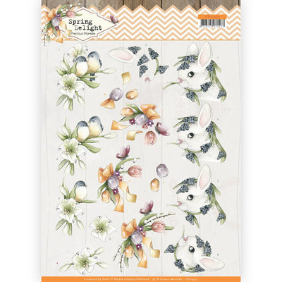 CD11432 - HJ18001 3D cutting sheet - Precious Marieke - Spring Delight - Young Animals