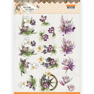 CD11431 3D cutting sheet - Precious Marieke - Spring Delight - Purple Crocus
