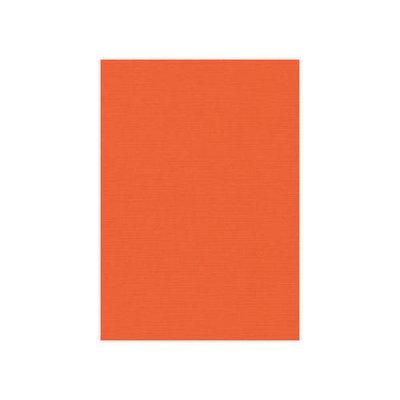 BULK 11 Linnenkarton  A5 (21x14,8cm) Card Deco Oranje per 125 vellen