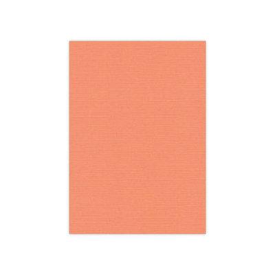 BULK 10 Linnenkarton  A5 (21x14,8cm) Card Deco Zachtoranje per 125 vellen