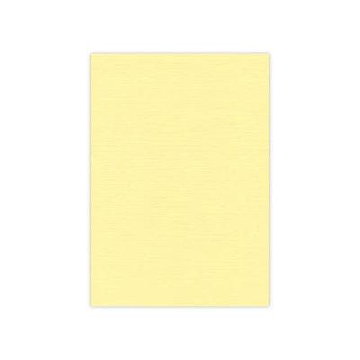 BULK 03 Linnenkarton  A5 (21x14,8cm) Card Deco Lichtgeel per 125 vellen