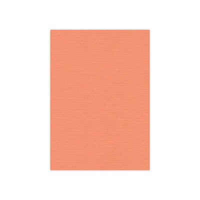 BULK 10 Linnenkarton Scrap 30,5x30,5cm Card Deco Zachtoranje per 125 vellen