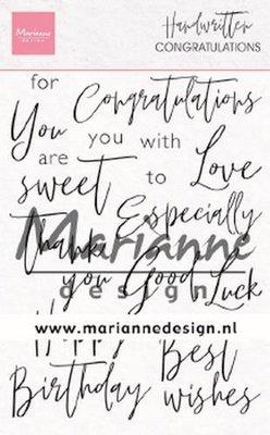 Marianne D Stempel Handwritten - Congratulations (Eng) CS1052 110x150mm (03-20)