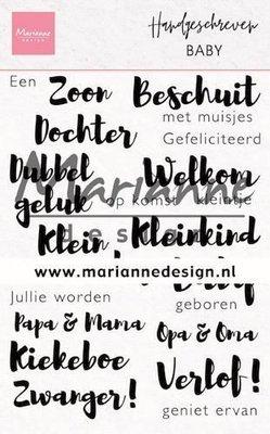 Marianne D Stempel Handgeschreven - Baby (NL) CS1051 110x150mm (03-20)