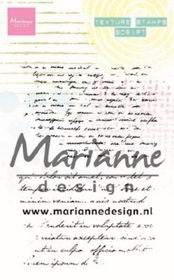 Marianne D Clear Stamps Texture stamps - tekst MM1627 95x140mm (03-20)