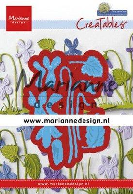 Marianne D Creatable Petra's viooltjes LR0649 63,5x90,5mm (03-20)
