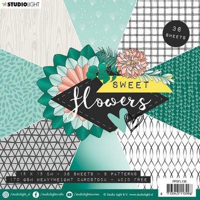Studio Light paper pad Sweet Flowers nr.138 PPSFL138 15x15 cm (03-20)