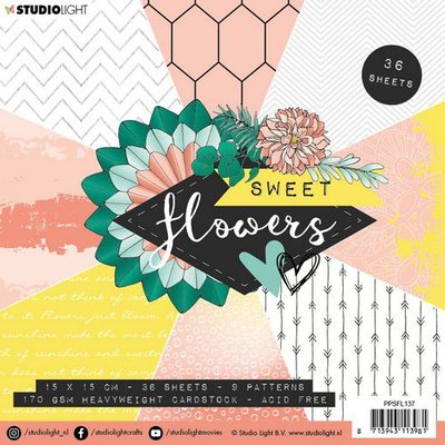 Studio Light paper pad Sweet Flowers nr.137 PPSFL137 15x15 cm (03-20)