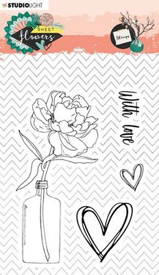 Studio Light Stamp A6 Sweet Flowers nr.436 STAMPSFL436 (03-20)