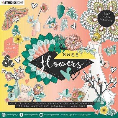 Studio Light Die Cut Book 15x15 Sweet Flowers nr.660 EASYSFL660 (03-20)