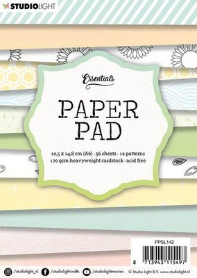 Studio Light paper pad 36 vel 12 patronen nr.142 PPSL142  A6 (03-20)