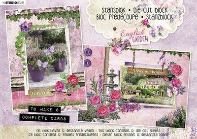 Studio Light Stansblok A5 12 vel English Garden nr.29 A5STANSBLOKSL29 (03-20)