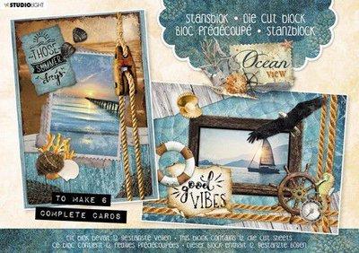 Studio Light Stansblok A5 12 vel Ocean View nr.28 A5STANSBLOKSL28 (03-20)