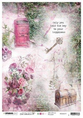Studio Light Rice Paper A4 vel Jenine's Mindful Art 3.0 nr.19 RICEJMA19 (03-20)