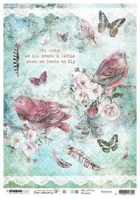 Studio Light Rice Paper A4 vel Jenine's Mindful Art 3.0 nr.18 RICEJMA18 (03-20)