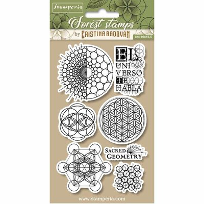 Stamperia Natural Rubber Stamp Sacred Geometry (WTKCCR12)