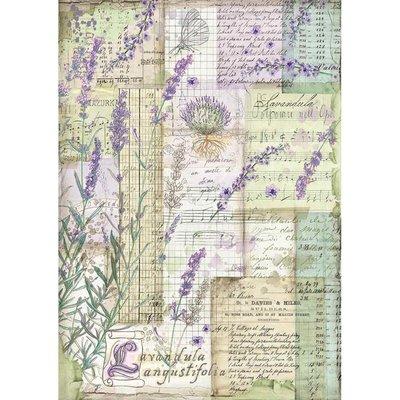 Stamperia Rice Paper A4 Lavender Fantasy (DFSA4455)