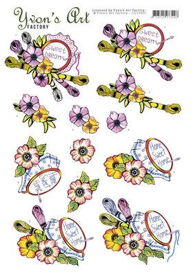 CD11455 3D cutting sheet - Yvon's Art - Stitching