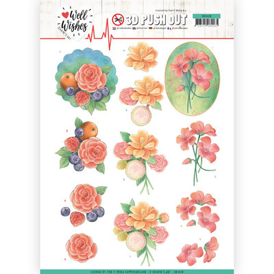SB10428 3D Pushout - Jeanine's Art - Well Wishes - A Bunch of Flowers