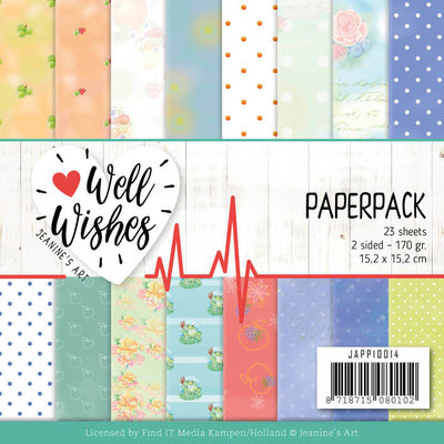 JAPP10014 Paperpack - Jeanine's Art - Well Wishes