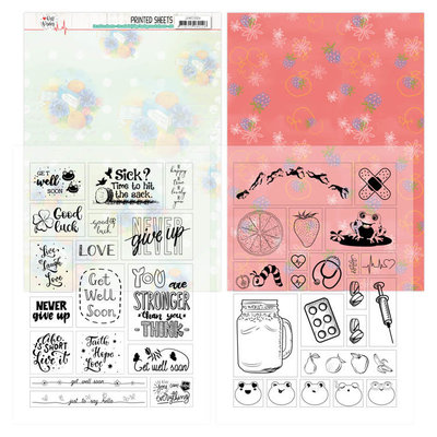 JAMC1004 Mica Sheets - Jeanine's Art - Well Wishes