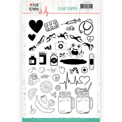 JACS10031 Clear Stamps - Jeanine's Art - Well Wishes