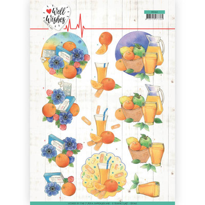 CD11462 3D Cutting sheet - Jeanine's Art - Well Wishes - Pills and Vitamins