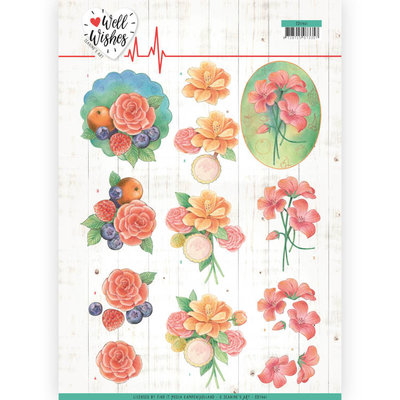 CD11461 3D Cutting sheet - Jeanine's Art - Well Wishes - A Bunch of Flowers