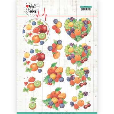CD11460 3D Cutting sheet - Jeanine's Art - Well Wishes - Fruits