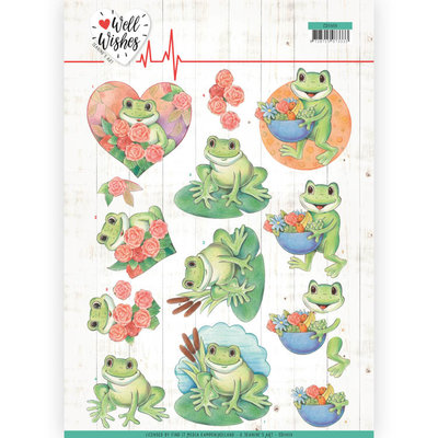 CD11459 3D Cutting sheet - Jeanine's Art - Well Wishes - Frogs