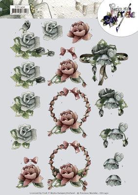 CD11450 3D cutting sheetPrecious Marieke All kinds of roses