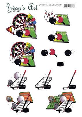CD11507 3D Cutting Sheet - Yvon's Art - Sporting