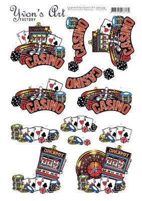 CD11506 3D Cutting Sheet - Yvon's Art - Casino