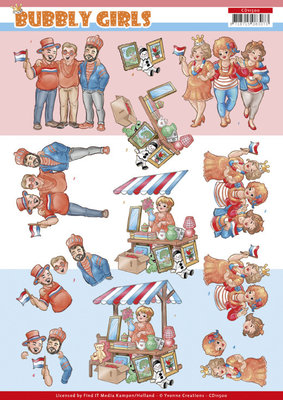 CD11500 3D Cutting Sheet - Bubbly Girls - Kings day