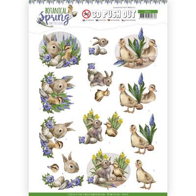 SB10437 3D Pushout - Amy Design - Botanical Spring - Best Friends