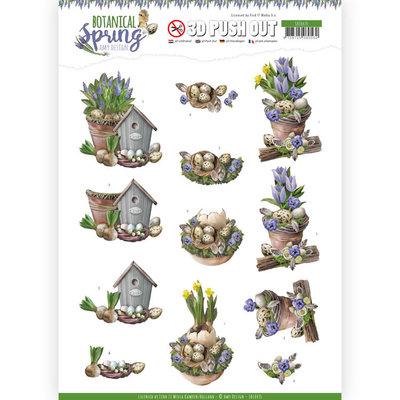SB10435 3D Pushout - Amy Design - Botanical Spring - Spring Arrangement