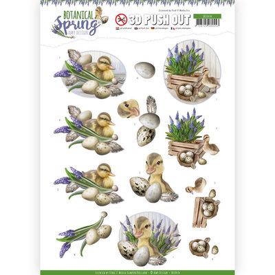SB10434 3D Pushout - Amy Design - Botanical Spring - Happy Ducks