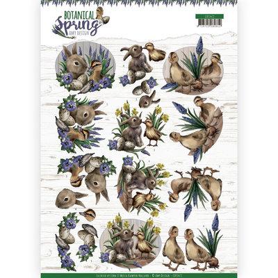 CD11472 3D cutting sheet - Amy Design - Botanical Spring - Best Friends