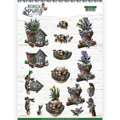CD11470 3D cutting sheet - Amy Design - Botanical Spring - Spring Arrangement