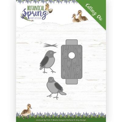 ADD10202 Dies - Amy Design - Botanical Spring - Busy Birds Formaat ca. 5,6 x 7,7 cm