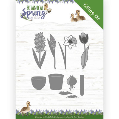 ADD10199 Dies - Amy Design - Botanical Spring - Bulbs and flowers Formaat ca. 11,4 x 9,7 cm