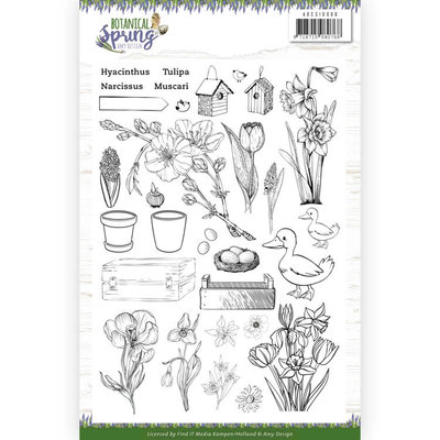 ADCS10066 Clear Stamps - Amy Design - Botanical Spring Formaat: 14,8 x 21 cm