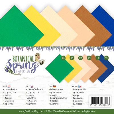 AD-4K-10022 Linen Cardstock Pack - 4K - Amy Design - Botanical Spring