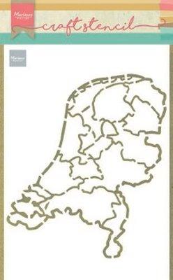 Marianne D Craft Stencil Nederland PS8059 210x149mm