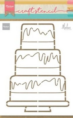 Marianne D Craft Stencil Party cake by Marleen PS8057 210x149mm