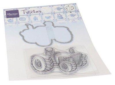Marianne D Clear Stamp & Die Hetty's Tractor HT1654 stamp, die